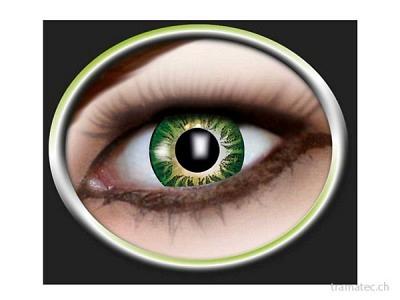 Fasnacht Kontaktlinsen 3-Ton grün