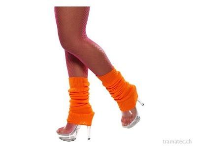 Fasnacht Beinstulpe Neon Orange