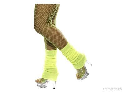 Fasnacht Beinstulpe Neon Gelb