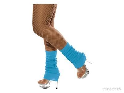 Fasnacht Beinstulpe Neon Blau