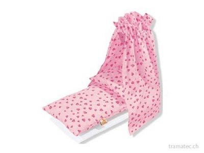Pinolino Bettbezug 4tlg. Herzchen rosa