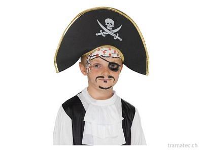 Fasnacht Piratenhut mit Totenkopf