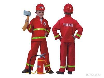 Fasnacht Feuerwehrmann 2-teilig Gr. 140