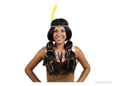 Fasnacht Perücke *Wyona* Indianerin