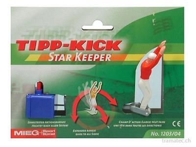 Tipp Kick Star-Torwart 8cm rot