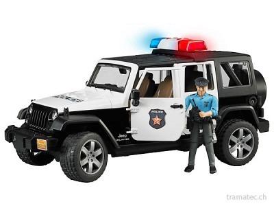 Bruder Jeep WranglerUnlimited Rubicon Polizeifahrzeug mit Polizist