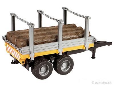 Bruder Holztransportanhänger mit 3 Baumstämmen - 02213
