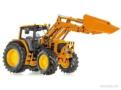 Wiking Traktor John Deere 7430 mit Frontlader und Frontlader-Werkzeugen