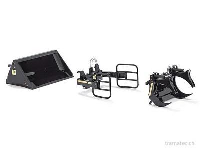 Wiking Frontlader Werkzeuge - Set A schwarz