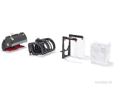 Wiking Frontlader Werkzeuge - Set B schwarz