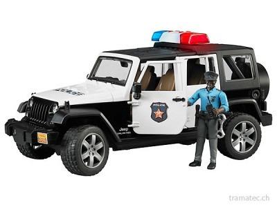 Bruder Jeep WranglerUnlimited Rubicon Polizeifzg+L+S-Module+Polizist(dunkel)