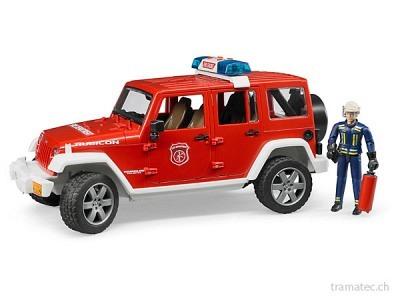 Bruder Jeep Wrangler Unlimited Rubicon Feuerwehr-Einsatzfzg.+Figur