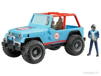 Bruder Jeep Cross country racer blau mit Rennfahrer