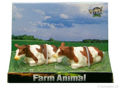 Kids Globe Kühe liegend Fleckvieh