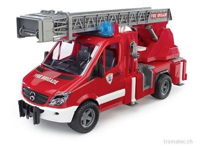 Bruder Mercedes Benz Sprinter Feuerwehr mit Drehleiter - 02532