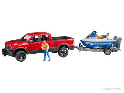 Bruder RAM 2500 Power Wagon mit Jet-Ski