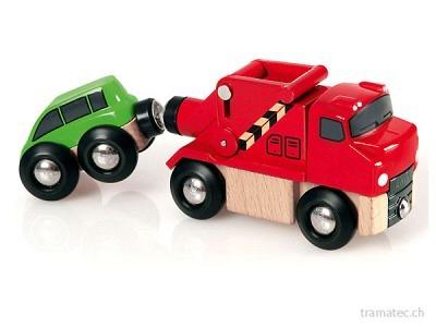 BRIO Abschleppwagen mit Auto