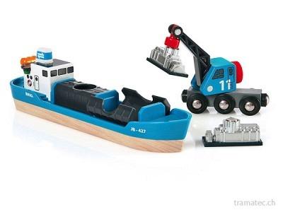 BRIO Containerschiff mit Kran-