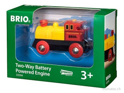 BRIO Batterielok gelb/rot