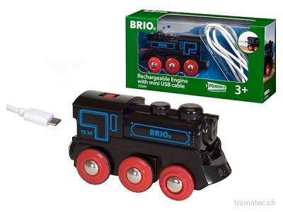 BRIO Schwarze Akku-Lok m.Mini-USB