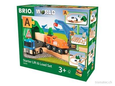 BRIO Starterset Güterzug mit Kran