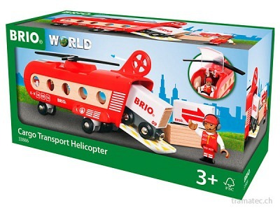 BRIO Eisenbahn-Transporthelicopter