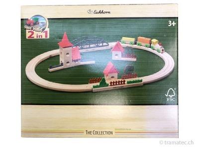 Eichhorn Holz Kugel- und Schienenbahn