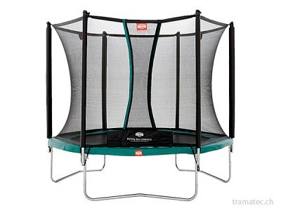 BERG Trampolin Talent Green 240 + Sicherheitsnetz Comfort