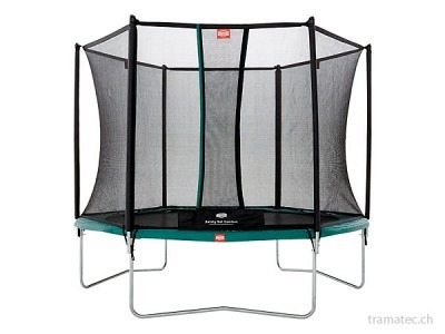BERG Trampolin Talent Green 300 + Sicherheitsnetz Comfort