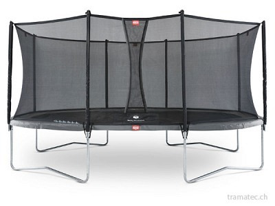 BERG Trampolin Grand Favorit Regular 520 Grey + Sicherheitsnetz Comfort