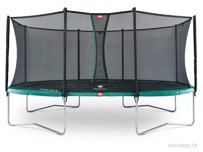 BERG Trampolin Grand Favorit Regular 520 Green + Sicherheitsnetz Comfort