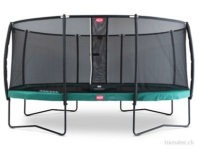 BERG Trampolin Grand Champion Regular 470 Green + Sicherheitsnetz Deluxe