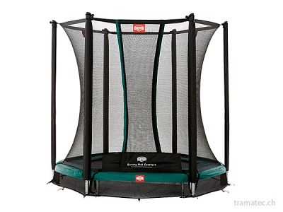 BERG Trampolin InGround Talent Green 180 + Sicherheitsnetz Comfort