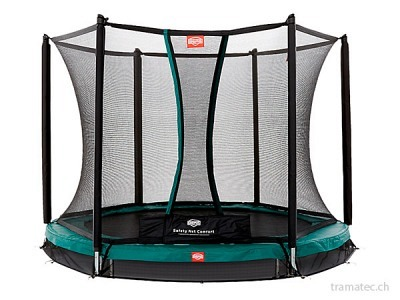 BERG Trampolin InGround Talent Green 240 + Sicherheitsnetz Comfort