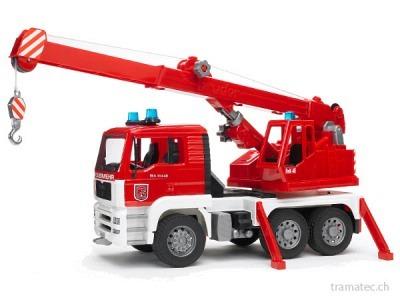 Bruder MAN Feuerwehr Kran-LKW mit Light and Sound Module - 02770