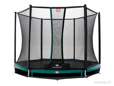 BERG Trampolin InGround Talent Green 300 + Sicherheitsnetz Comfort