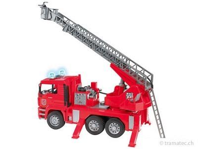 Bruder MAN Feuerwehr mit Drehleiter - 02771