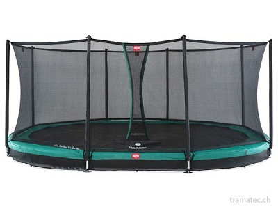 BERG Trampolin Grand Favorit InGround 520 Green + Sicherheitsnetz Comfort