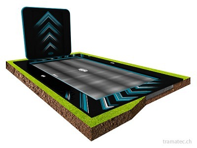 BERG Trampolin Ultim Elite FlatGround 500 Black + AeroWall 2x2 Black