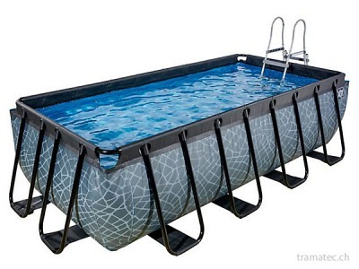 EXIT Schwimmbad 400 x 200 x 100 cm (Stein)