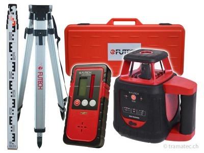 FUTECH Rotationslaser Red Runner Case-Set + Gyro Receiver