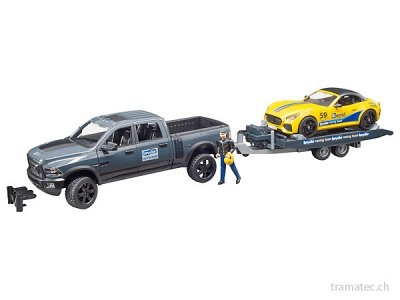 Bruder RAM 2500 Power Wagon und Roadster Bruder Racing Team