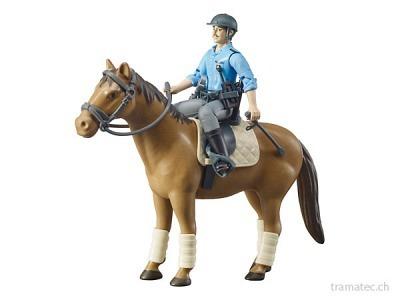 Bruder berittene Polizei, Pferd und Polizist