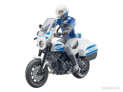Bruder Scrambler Ducati Polizeimotorrad und Polizist