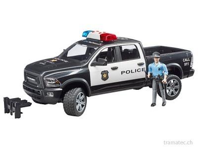 Bruder RAM 2500 Polizei Pickup mit Polizist