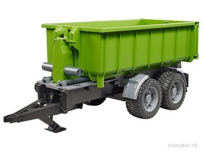 Bruder Hakenlift-Anhänger für Traktoren - 02035