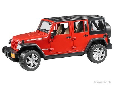 Bruder Jeep Wrangler Unlimited Rubicon rot