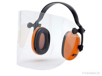 STIHL Gesichts-/Gehörschutz kurz mit Kunststoffscheibe bis 104 dB(A)