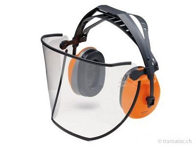 STIHL Gesichts-/Gehörschutz kurz mit Kunststoffscheibe bis 110 dB(A)