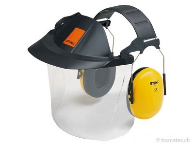 STIHL Gesichts-/Gehörschutz kurz mit Kunststoffscheibe bis 107 dB(A)